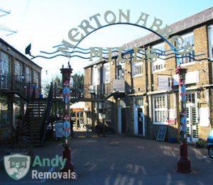 Merton Abbey Mills gate