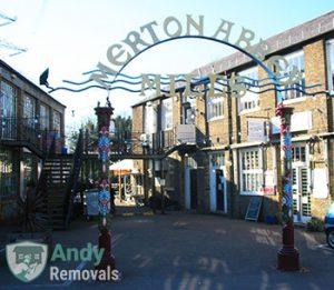Merton Abbey Mills gate